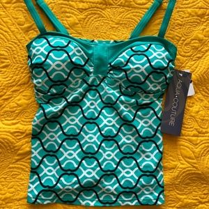 Aqua Couture Size S Tankini Swim Top